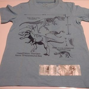 Carters blue dinosaur themed short sleeve t shirt